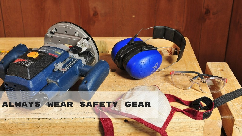 Always wear safety gear