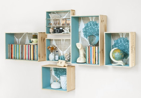 Hanging boxes for decorating